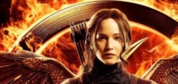 Jennifer Lawrence na pele de Katniss Everdeen.