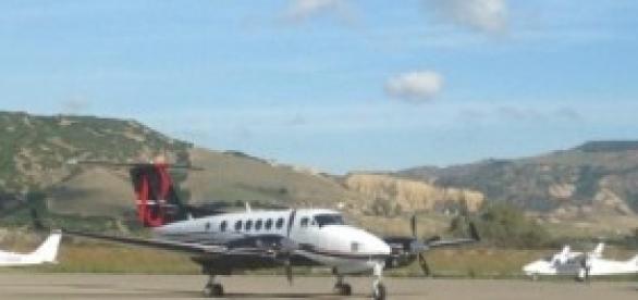L'aeroporto di Pisticci, in una foto recente