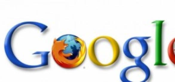 Brincadeira na web com logo do Google e Firefox