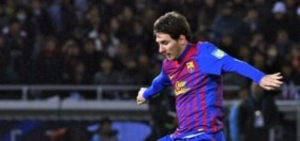 Messi en una jugada individual