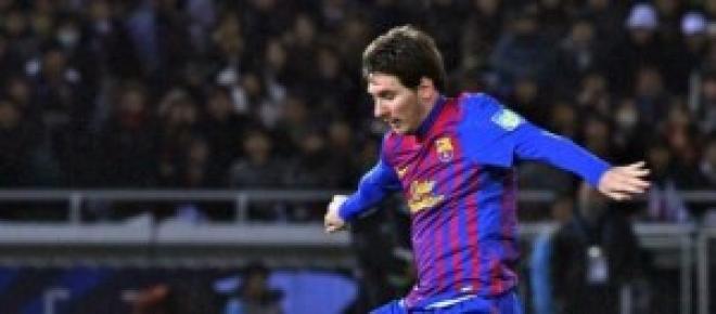 Messi en un partido con el Barcelona