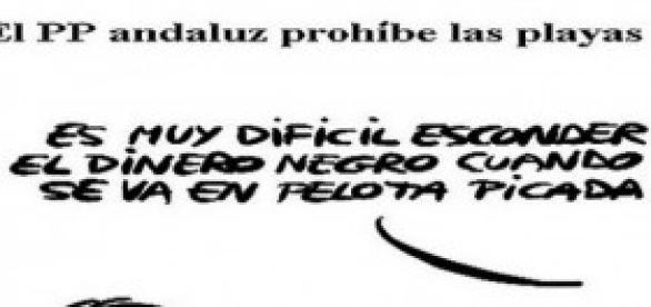 Chiste gráfico sobre corruptos españoles.