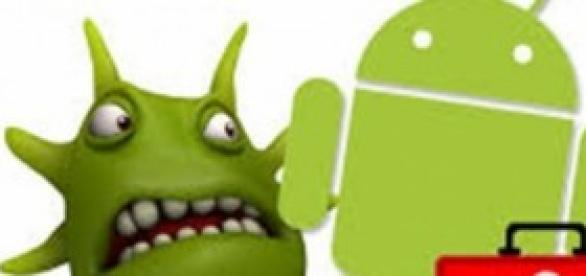 Logotipo Android infectado