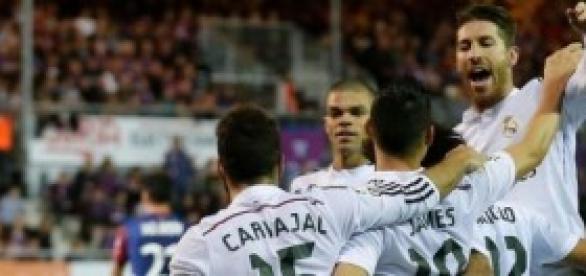 Los blancos celebran un gol. Foto: Real Madrid