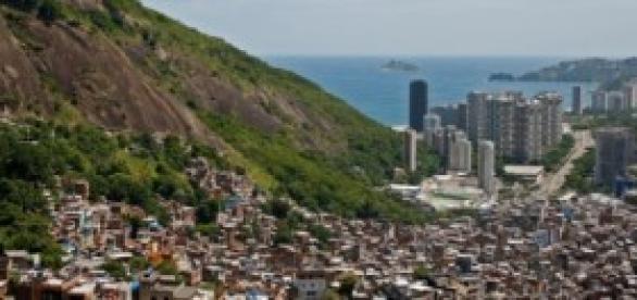 Diferenças socioeconómicas no Brasil.