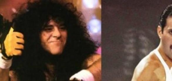 Eric Carr (KISS) e Freddie Mercury (Queen)