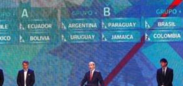 Imagem do Sorteio dos Grupos