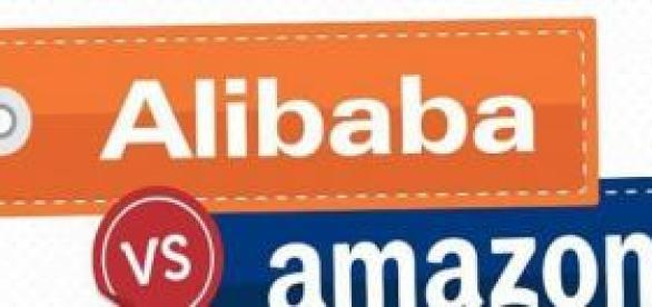 Guerra de gitantes de e-commerce Alibaba Vs Amazon