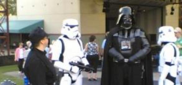 Aficionados a Star Wars disfrazados