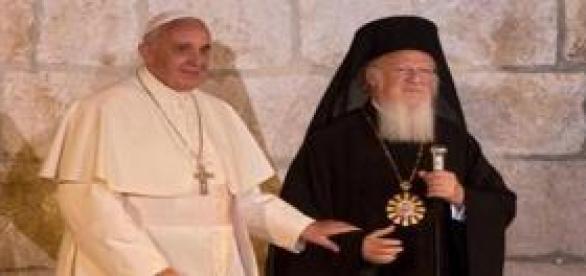 El Papa Francisco y el Patriarca Bartolomé I