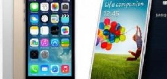 Samsung Galaxy S6 e iPhone 7.
