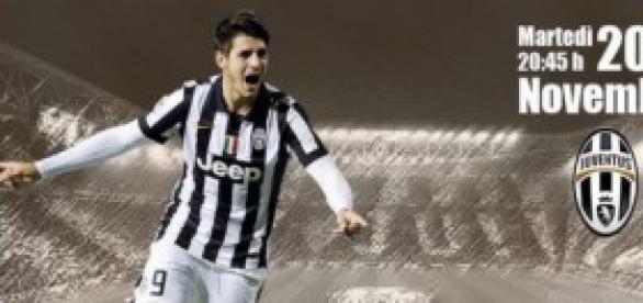 Álvaro Morata con la Juventus.