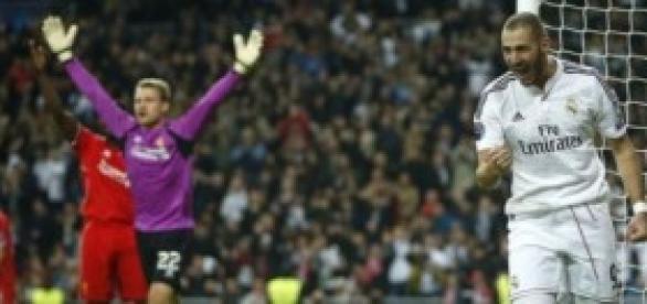 Benzema celebra el único tanto del partido