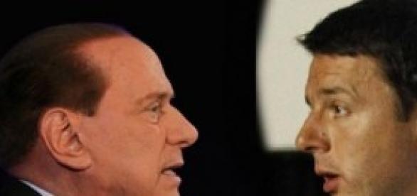 Berlusconi e Renzi a confronto.