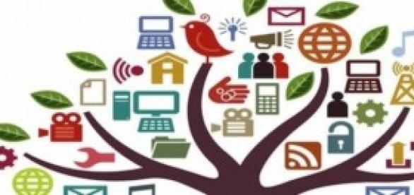 Social media tree with all major players