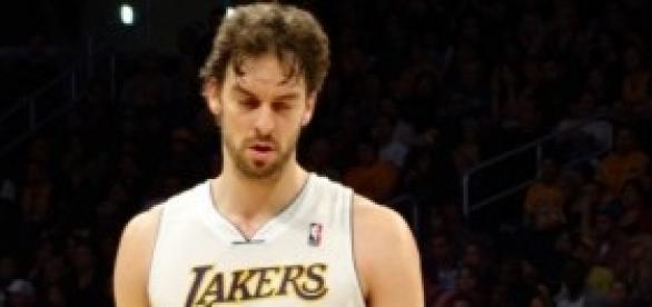 Pau Gasol con los Lakers.