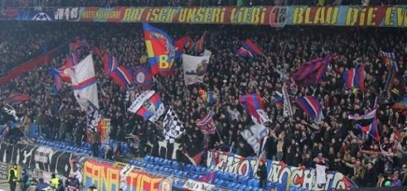 Basel FC fans in the stadium