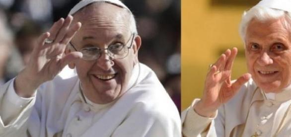 Choque entre Papa Francisco y Papa Ratzinger.