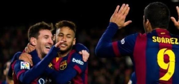 Messi, Neymar y Luís Suárez marcaron los goles.