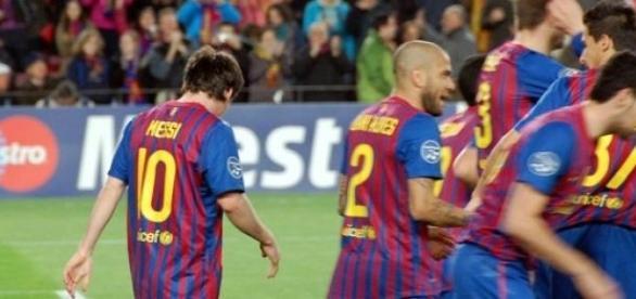 FC Barca jugando en el camp nou