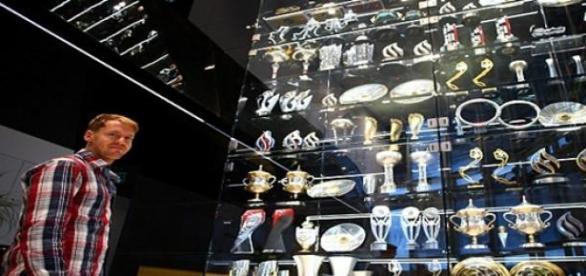 Trofeos de las instalaciones del Red Bull Team