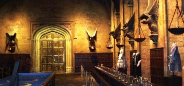 A sala comum de Hogwarts, no site Pottermore