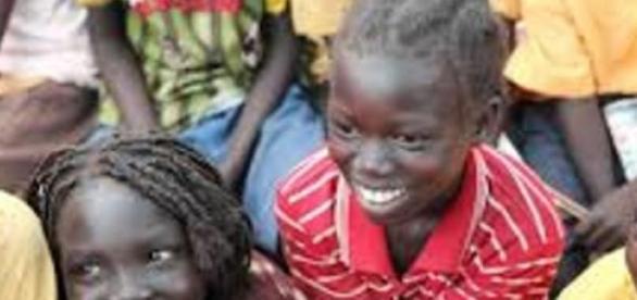 Algumas das meninas do Sudão