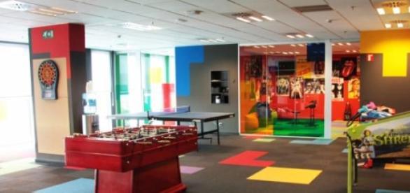 Sala de Ocio de las oficinas de Softonic.