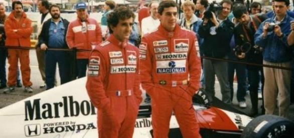 Senna e Prost na McLaren (foto Ayrton Senna Vive)