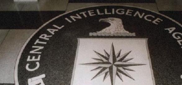CIA logo agency  at the building lobby