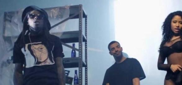 """Nicki Minaj en su nuevo videoclip """"Only""""."""