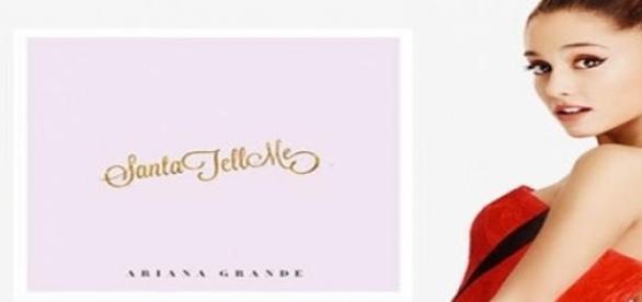 "Ariana y su videoclip navideño ""Santa Tell me""."