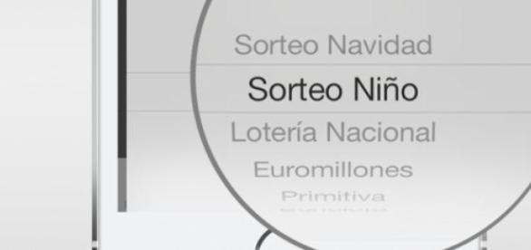 Aplicación de lotería en un smartphone iOS.