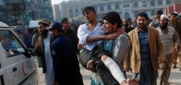 Imagen del ataque talibán en Pakistán