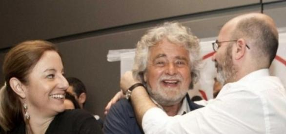 Il leader del Movimento Beppe Grillo
