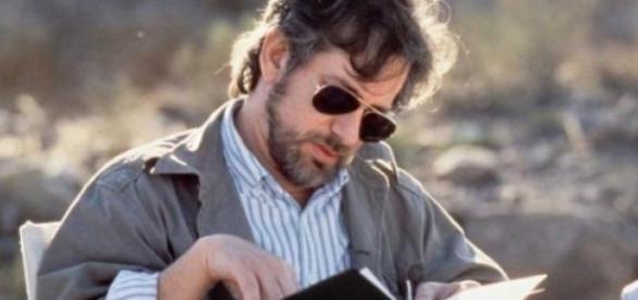 Steven Spielberg en uno de sus rodajes