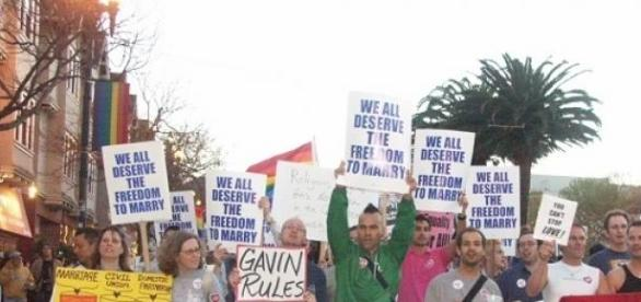 GLBT rally for marriage right