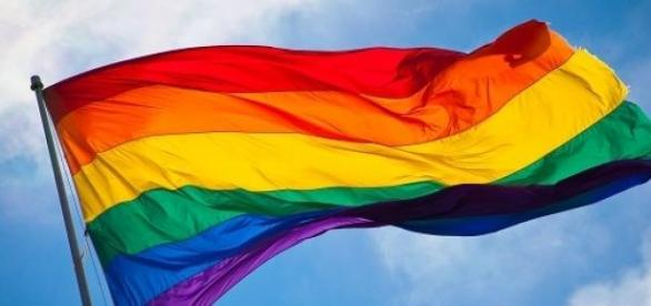 LGBT rainbow community flag