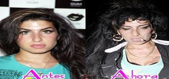 Acción de la cocaína y el alcohol en Amy Winehouse