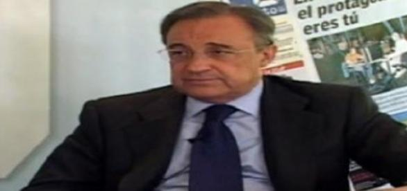Florentino Pérez en rueda de Prensa.