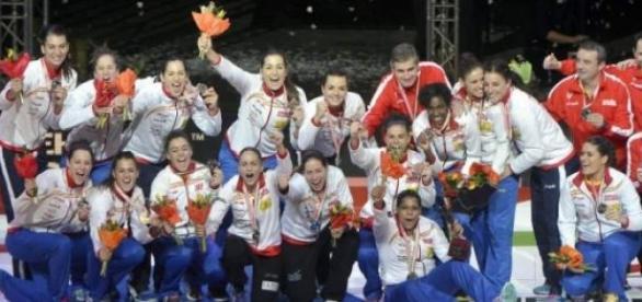 Las guerreras, medalla de plata. Foto: 20 Minutos
