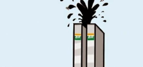 Charge de Ginacarlo sobre o Petrolão