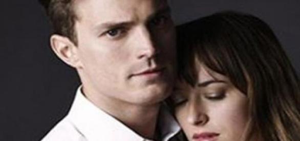 Los protagonistas del film, Christian y Anastasia