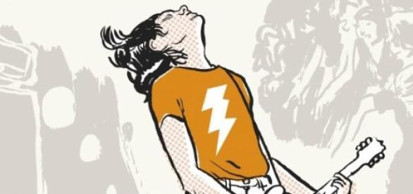 Capa do livro '45 Rotações de Rock'