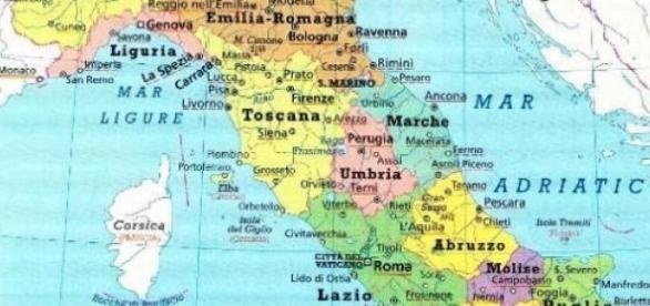 Rappresentazione attuale Italia delle Regioni