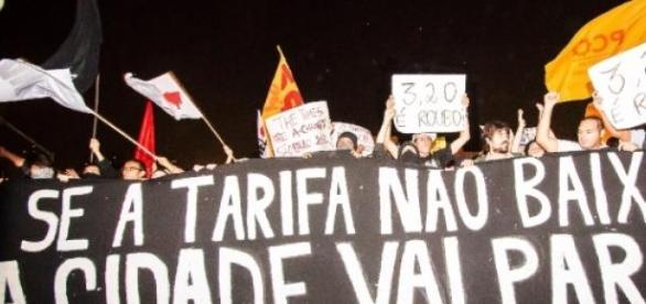 Imagem dos protestos de 2013 em São Paulo