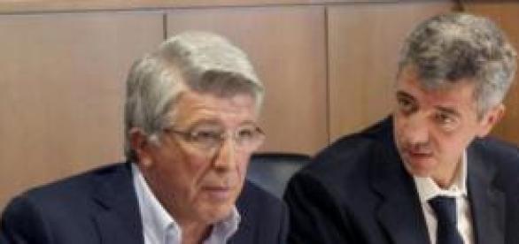 Cerezo y Gil Marín, máximos dirigentes del Atleti