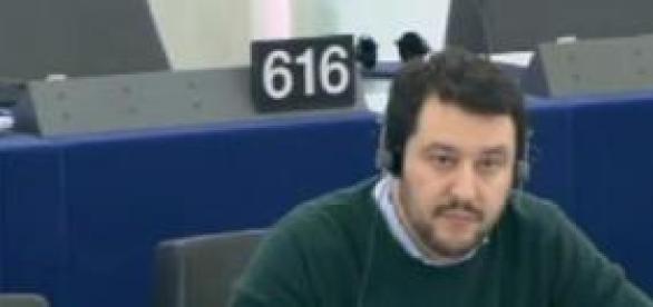 Il segretario della Lega Nord Matteo Salvini