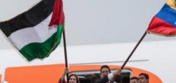 Palestinos aterrizando en Venezuela