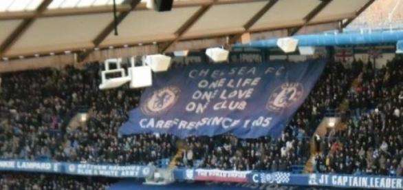 Oprawa kibiców Chelsea na Stamford Bridge